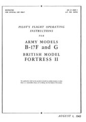 B-17F and G Руководство летчика / PILOT'S FLIGHT OPERATING INSTRUCTIONS